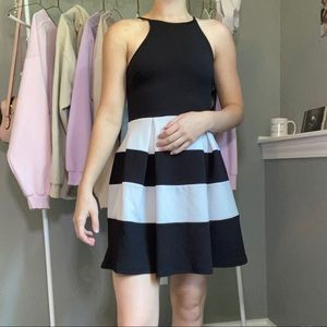 🍄Soprano A Line Dress Black and White